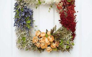 pretty vintage diy floral wreath, crafts, wreaths
