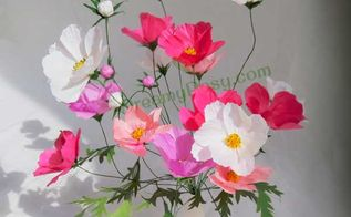 easy to diy paper cosmos flower, gardening