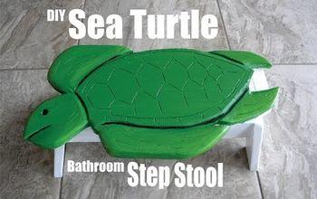 DIY Sea Turtle Bathroom Step Stool