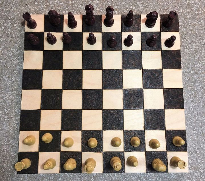 Diy Chess Board By Wood Burning Hometalk