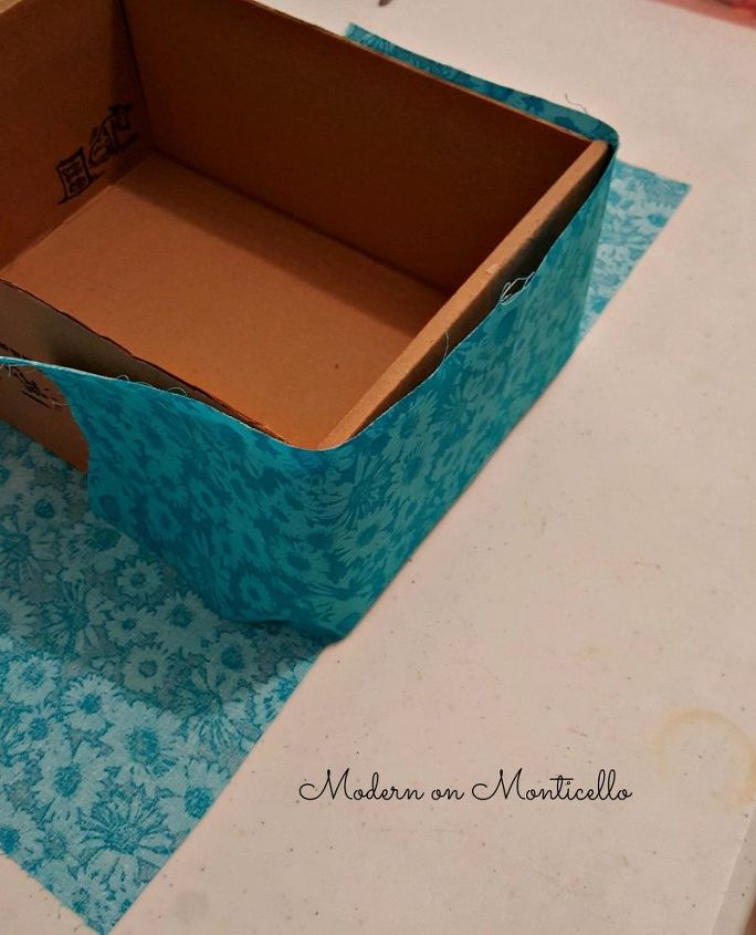 fabric covered storage boxes, storage ideas, reupholster