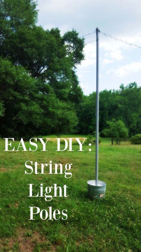 diy string light poles