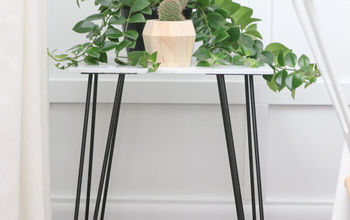 DIY Marble Plant Stand Out of Old Tile