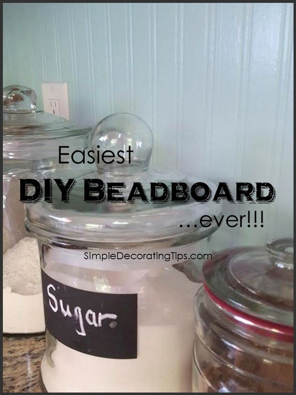 easiest diy beadboard ever, wall decor, woodworking projects