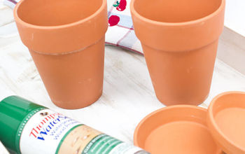 Turn Those Drab Terra Cotta Pots Into Farmhouse Fab in Minutes!