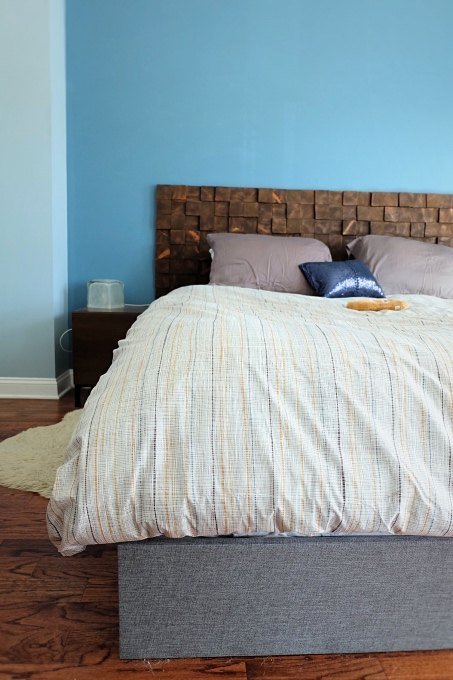 fast easy faux bed frame