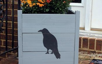 diy hand painted planter boxes, gardening, repurposing upcycling