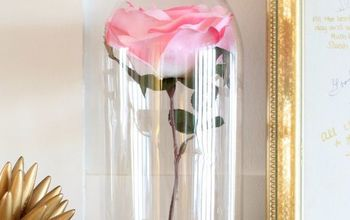 2L Pop Bottle to Beauty and the Beast Rose Cloche