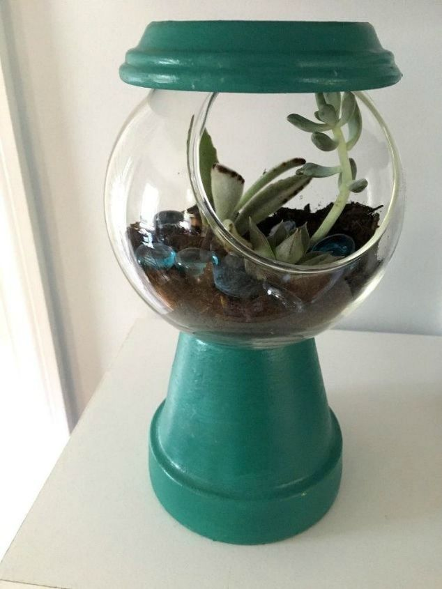 s 21 of the cutest terrariums we ve ever seen, gardening, terrarium, This one that looks like a gumball machine