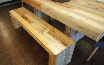 diy faux reclaimed wood waterfall benches, outdoor furniture, ponds water features