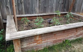 upcycled fence board planters, fences, gardening
