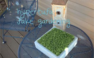 hypertufa fake gardening, gardening