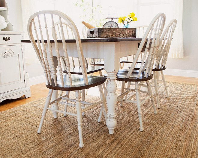 Farmhouse Dining Room Table Chairs Makeover Hometalk
