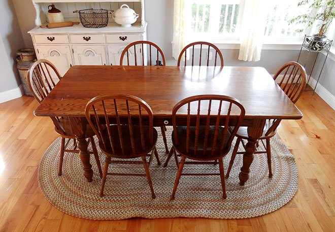 Farmhouse Dining Room Table & Chairs Makeover | Hometalk