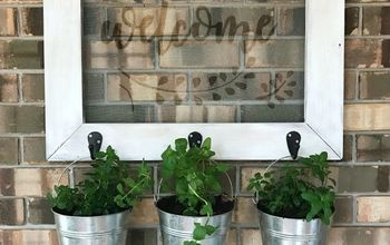 farmhouse style planter frame for your outdoor space, gardening