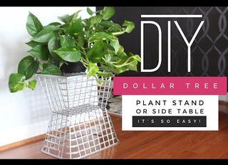 Diy Dollar Tree Side Table Plant Stand Hometalk