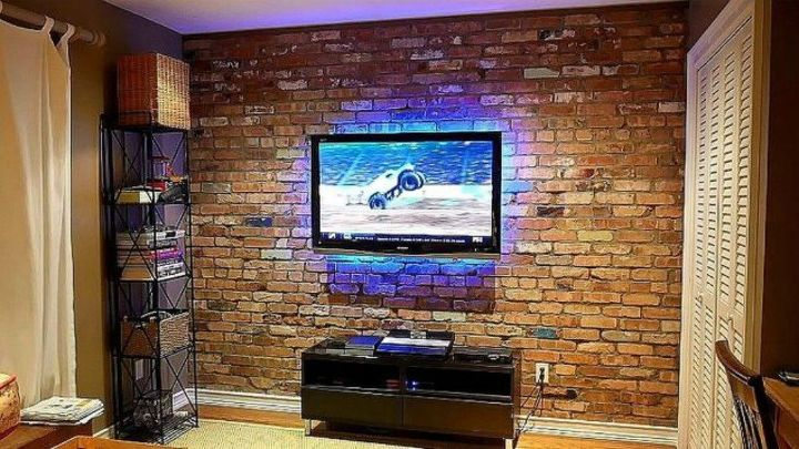 s 12 stunning ways to get that exposed brick look in your home, Build an exposed brick veneer accent wall