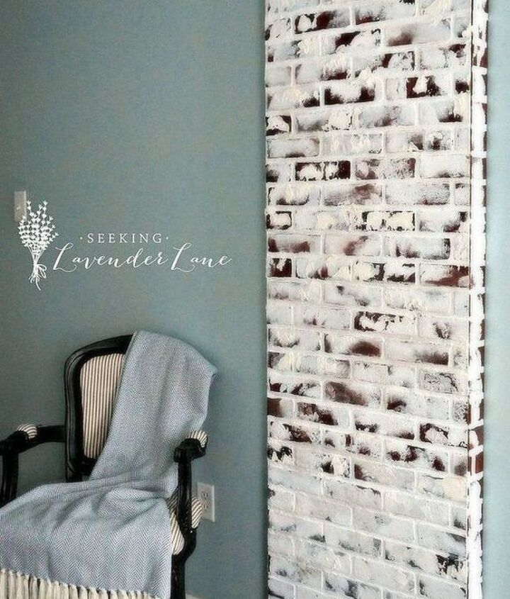 s 12 stunning ways to get that exposed brick look in your home, Fake a brick chimney with panels