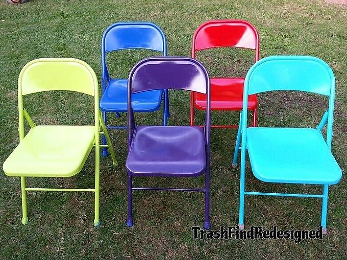 vintage metal chair makeover