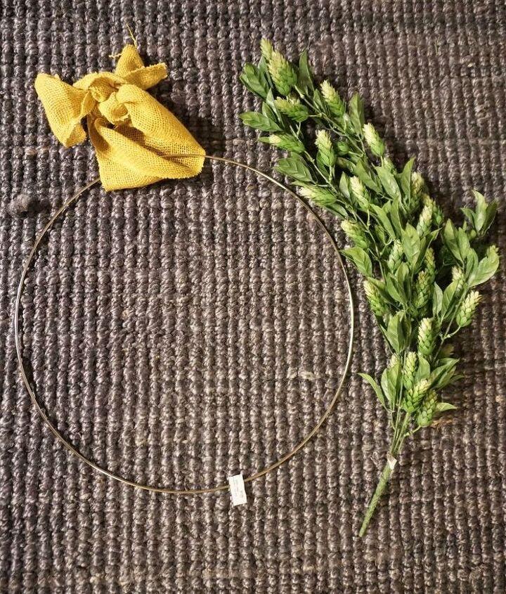 10 minute modern spring wreath tutorial