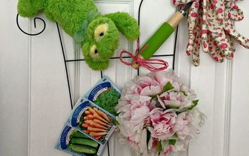A Dollar Store 'Wreath' for Spring
