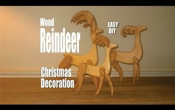 DIY Scrap Wood Reindeer Christmas Decorations