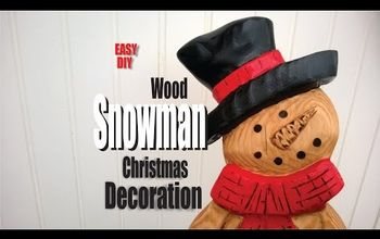 Easy DIY Wood Snowman Christmas Decoration