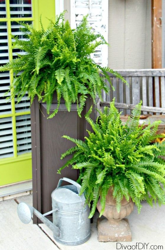 upcycled outdoor planter