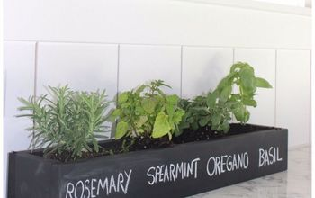 mini herb garden with chalk paint
