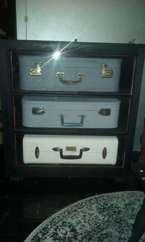 vintage suitcase cabinet