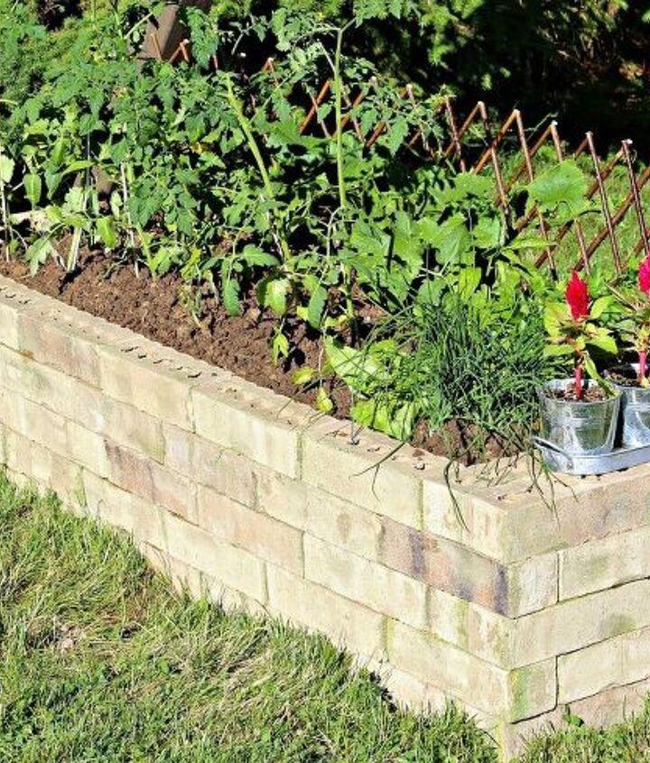 Diy Upcycled Brick Planter Box Hometalk
