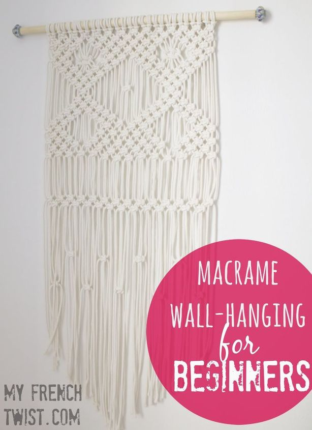 macrame projects for beginners macrame wall hanging for beginners hometalk 3408