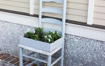 create a garden from a chair
