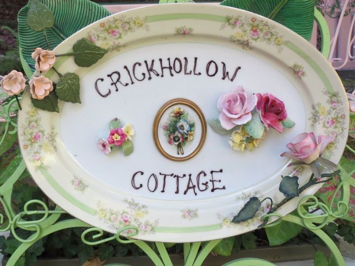 e crafternoons firescreen platter china roses sign with style