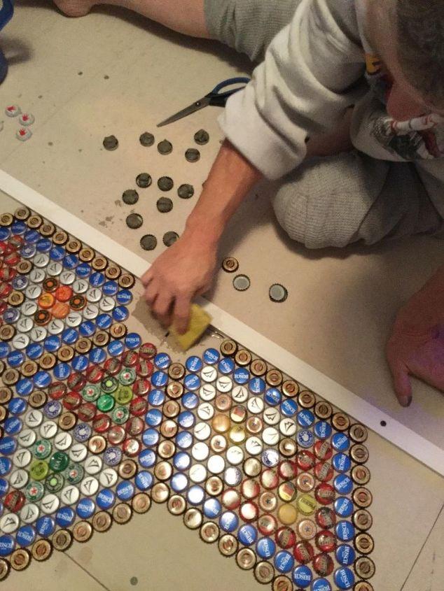 bottlecap floor tile