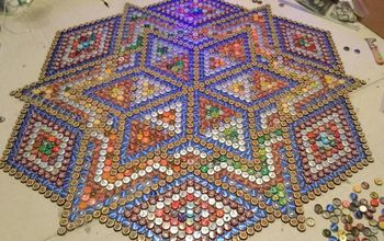 bottlecap floor tile