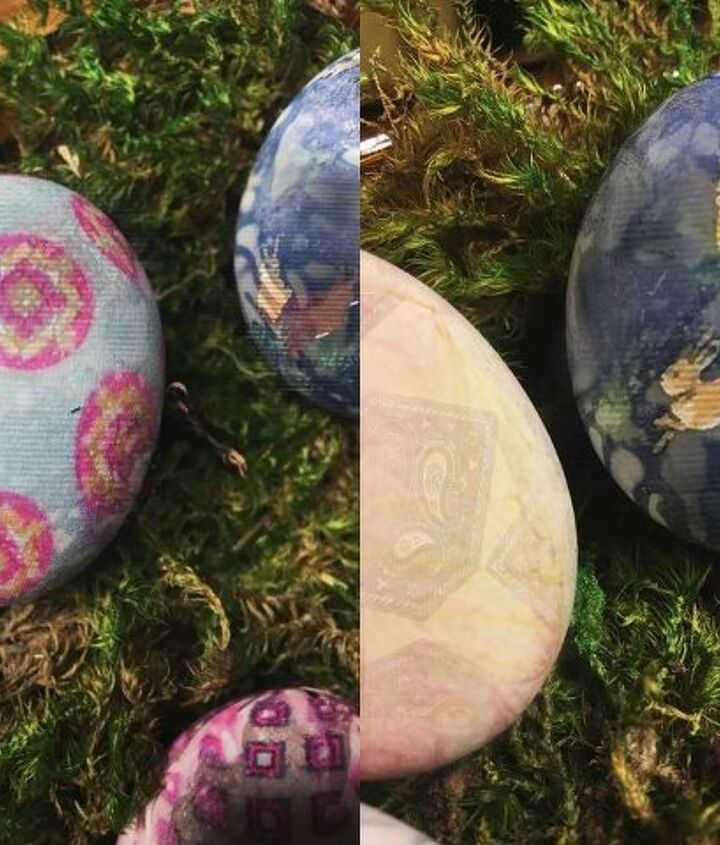 silk tie dyed easter eggs