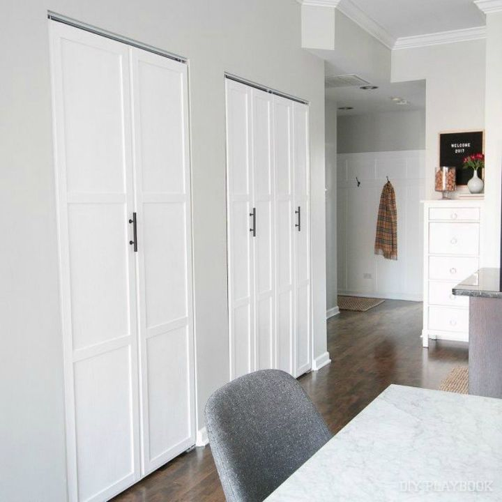 s 13 amazing closet door transformations that will change your room, These gorgeous upcycled bifold doors