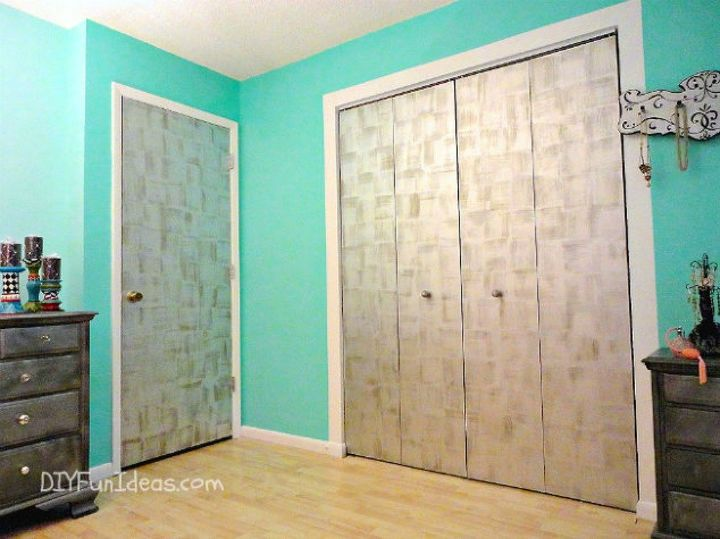 s 13 amazing closet door transformations that will change your room, These stunning silver leaf doors