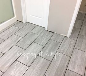 How To Tile A Bathroom Floor With 12x24 Gray Tiles Part 54
