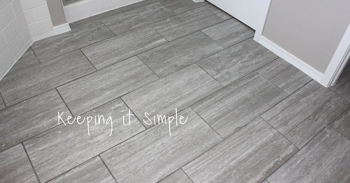 How to Tile a Bathroom Floor With 12x24 Gray Tiles | Hometalk