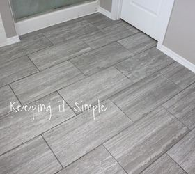 How To Tile A Bathroom Floor With 12x24 Gray Tiles ...