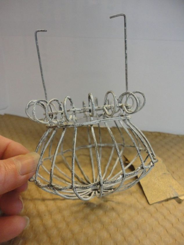 a little wire easter basket