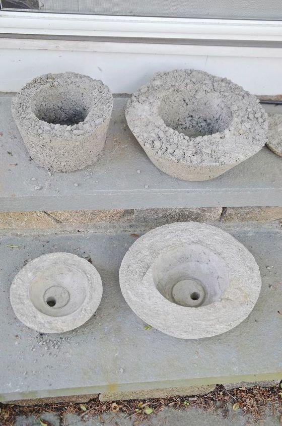 concrete planters, concrete masonry, container gardening, diy, gardening, how to, outdoor living