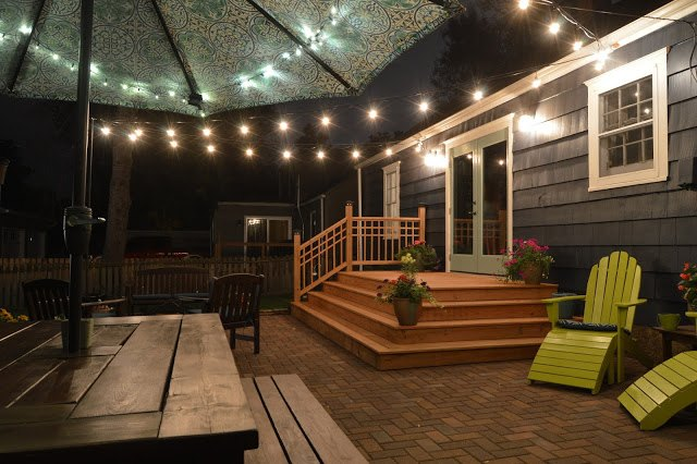 backyard patio makeover