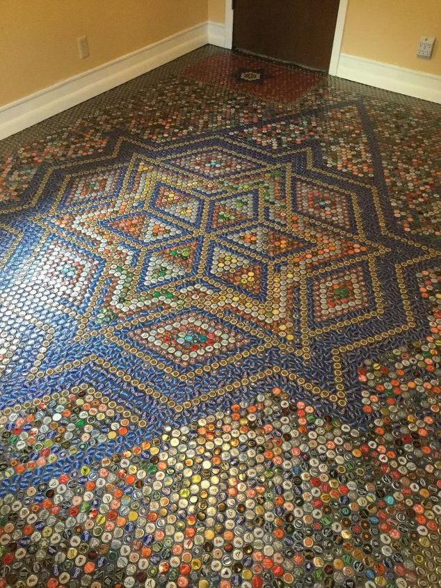 bottle cap floor tile