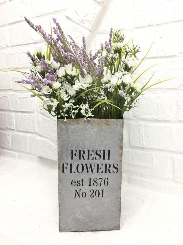Fresh Flowers Vase Faux Galvanized Finish Hometalk