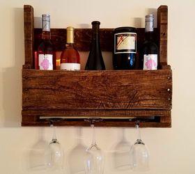 5 Minute Diy Wine Rack Burlap Sign, My Little Pallet Wood Wine Rack