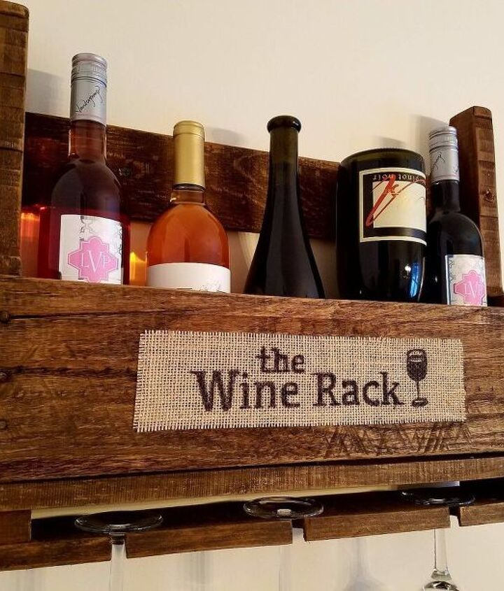 DONE! My new rustic sign for my wine rack