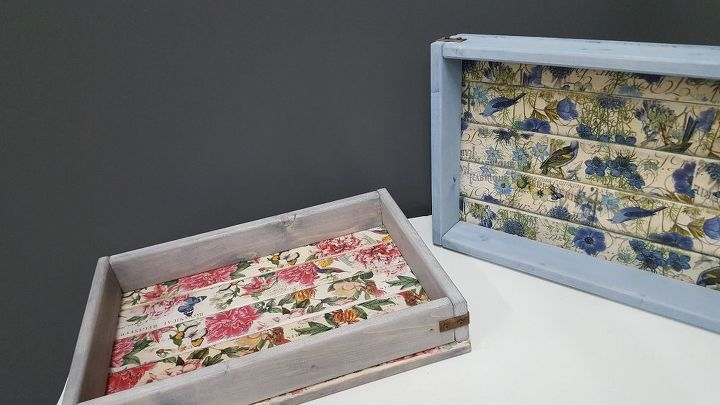how to make a diy shabby chic serving tray